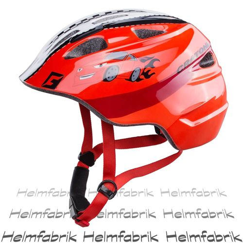 Fahrradhelm Kinder Cratoni Akino, racer red glossy, Gr. S (49-53 cm)