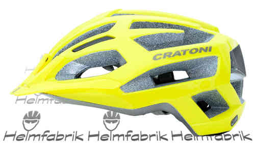 MTB Helm Cratoni C-Flash, yellow-anthracite glossy, Gr. M/L (56-59 cm)