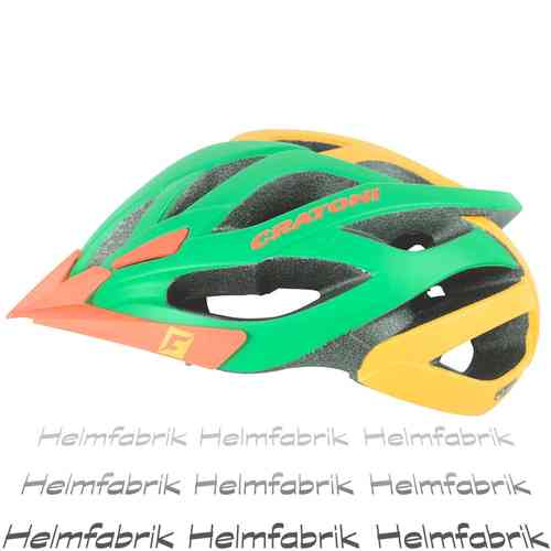 Fahrradhelm MTB Helm Cratoni Miuro, green-orange matt, Gr. M/L (54-59 cm)