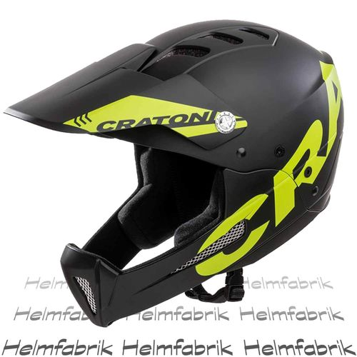 Downhill Helm Cratoni Shakedown, black-lime matt, Gr. M-L (57-61 cm)