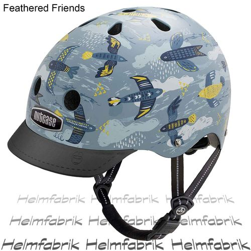 BMX Fahrradhelm Skatehelm Nutcase gen3, Feathered Friends, Gr. M