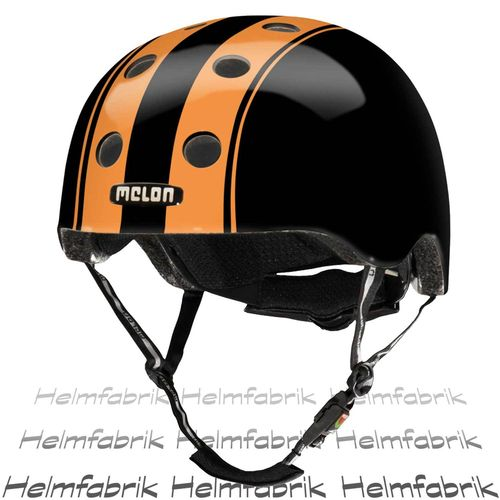 BMX Fahrradhelm Skatehelm Melon, Double Orange Black, Gr. M-L