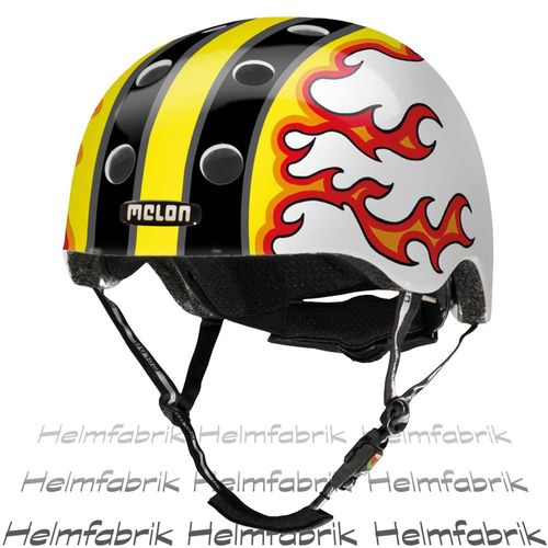 BMX Fahrradhelm Skatehelm Melon Design Hero, Fired Up, Gr. M-L