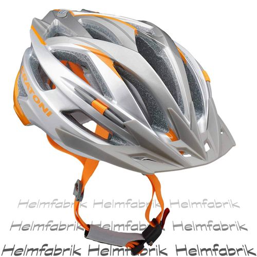 Mountainbike Helm Cratoni Agravic, silver-orange glossy, Gr. L/XL (58-62 cm)