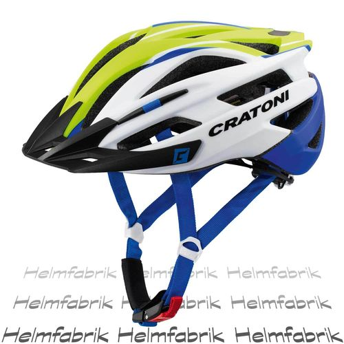 Mountainbike Helm Cratoni Agravic, lime-white-blue matt, Gr. L/XL (58-62 cm)