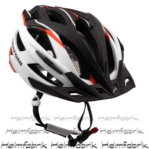Mountainbike Helm Cratoni Agravic, white-red-black matt, Gr. L/XL (58-62 cm)