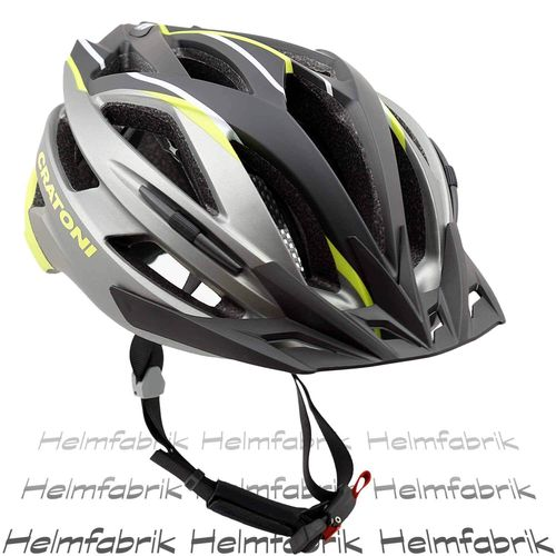 Mountainbike Helm Cratoni Agravic, anthracite-lime-black matt, Gr. L/XL (58-62 cm)