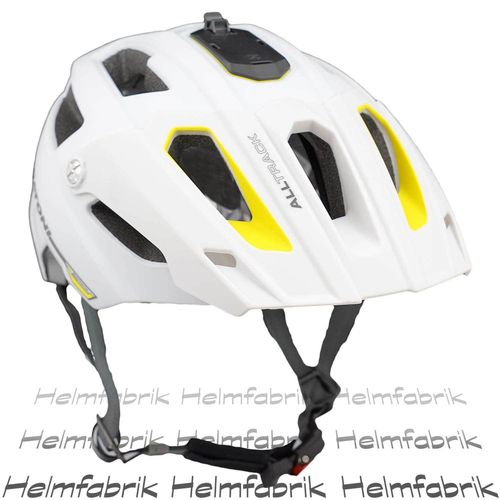 Mountainbike Helm Cratoni All Track, white-yellow rubber, Gr. S/M (54-58 cm)