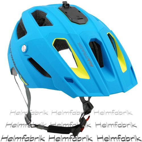 Mountainbike Helm Cratoni All Track, blue-lime rubber, Gr. S/M (54-58 cm)