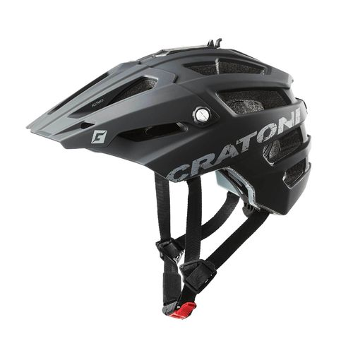 Mountainbike Helm Cratoni All Track, black rubber, Gr. M/L (58-61 cm)