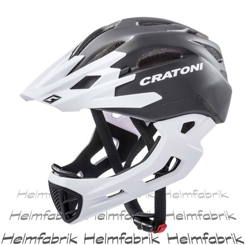 Downhill Helm Cratoni C-Maniac, black-white matt, Gr. L-XL (58-61 cm)