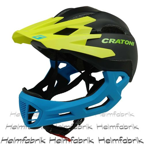 Downhill Helm Cratoni C-Maniac, black-yellow-blue matt, Gr. S-M (52-56 cm)