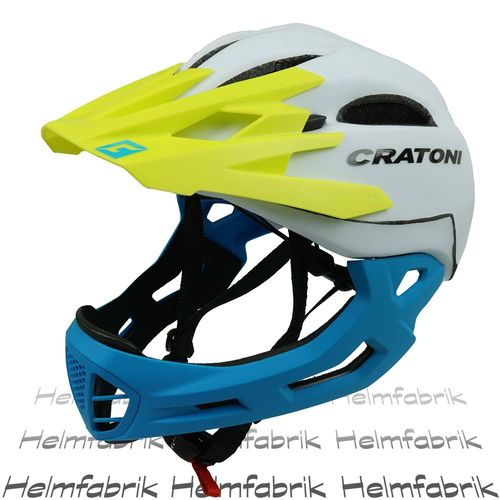 Downhill Helm Cratoni C-Maniac, white-yellow-blue matt, Gr. M-L (54-58 cm)