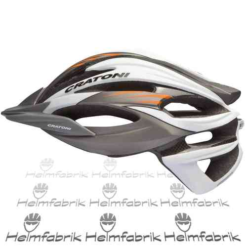 Mountainbike Helm Cratoni C-Limit, anthracite-white-orange, Gr. M/L (56-59 cm)