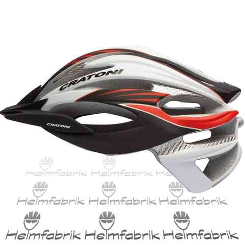 Mountainbike Helm Cratoni C-Limit, black-white-red, Gr. M/L (56-59 cm)