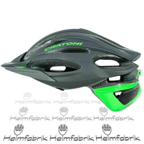 Mountainbike Helm Cratoni C-Limit, black-neongreen, Gr. M/L (56-59 cm)