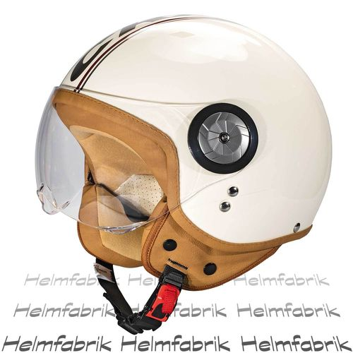 Rollerhelm Scooterhelm Cratoni Milano, cream-red glossy, Gr. M (57-58 cm)