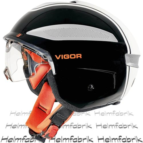 S-Pedelec Helm Cratoni Vigor, black-white-red glossy, Gr. M (56-57 cm)