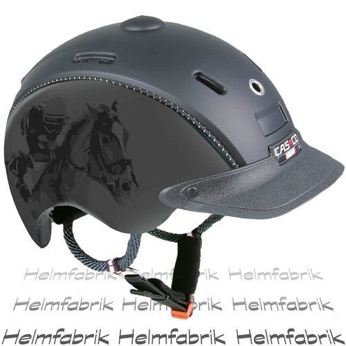 Reithelm für Kinder Casco Choice schwarz-titan Jockey Kinderreithelm