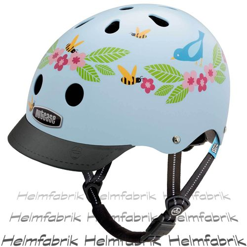 Fahrradhelm für Kinder Nutcase Gen3  - Little Nutty Bluebirds and Bees, Gr. XS (48cm-52cm)