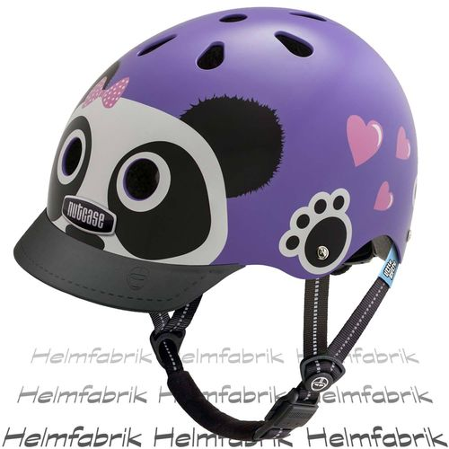 Fahrradhelm für Kinder Nutcase Gen3  - Little Nutty Purple Panda, Gr. XS (48cm-52cm)
