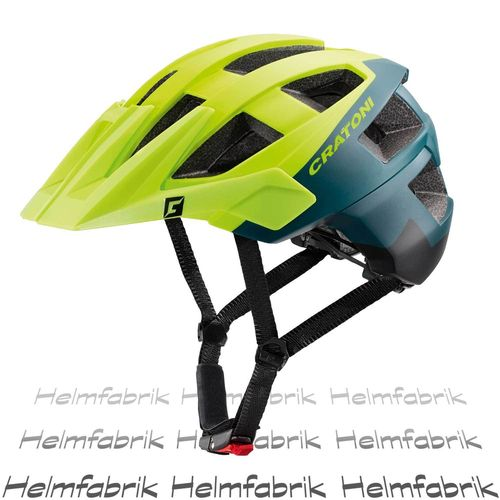 Mountainbike Helm Cratoni AllSet, lime-petrol-black matt, Gr. S-M (54-58 cm)