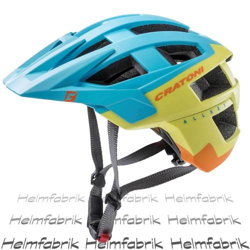 Mountainbike Helm Cratoni AllSet, blue-lime-orange matt, Gr. S-M (54-58 cm)