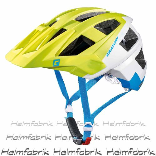 Mountainbike Helm Cratoni AllSet, lime-white-blue matt, Gr. S-M (54-58 cm)