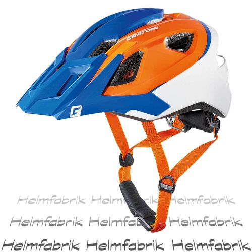 Mountainbike Helm Cratoni AllRide, blue-orange-white matt, Gr. Uni (53-59 cm)