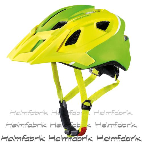 Mountainbike Helm Cratoni AllRide, lime-white matt, Gr. Uni (53-59 cm)