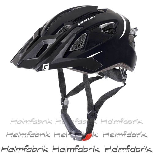 Mountainbike Helm Cratoni AllRide, black-white matt, Gr. Uni (53-59 cm)