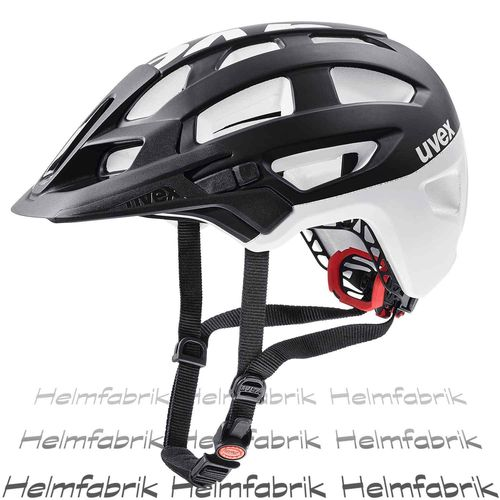 MTB All Mountain Fahrradhelm Uvex finale, black-white mat, Gr. 52-57 cm