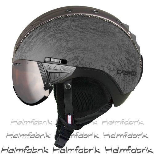 Skihelm Casco SP-2 Snowball mit Visier, titan metallic, Gr. L (58-60 cm)