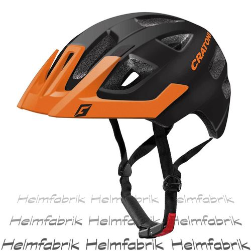 Kinderfahrradhelm Cratoni Maxster Pro, black-orange matt, Gr. S-M (51-56 cm)