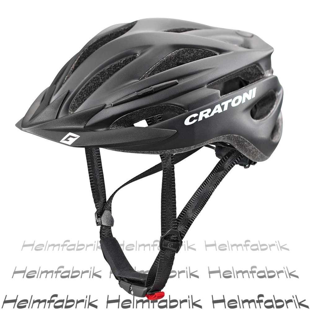Helme CRATONI Agravic Fahrradhelm // schwarz/weiß/rot matt Radsport