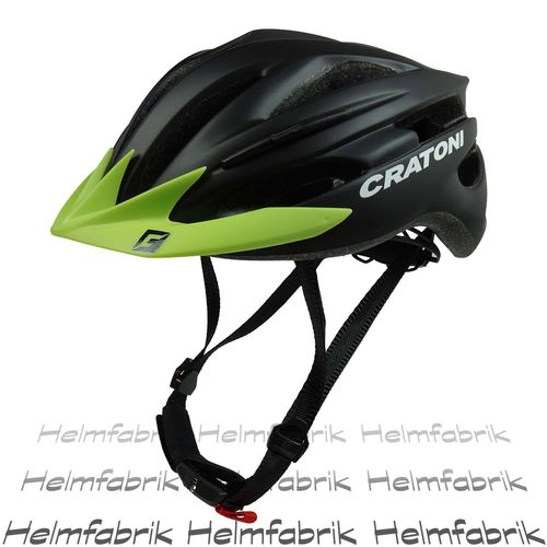 Fahrradhelm Cratoni Pacer, black matt - Visier lime, Gr. L-XL (58-62 cm)