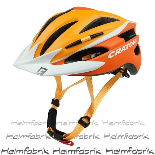 Fahrradhelm Helm Cratoni Pacer, orange-white matt - Visier weiß, Gr. XS-S (49-55 cm)