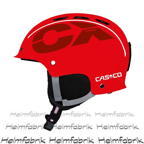 Skihelm für Kinder Casco CX-3 Junior, rot, Gr. S (50-55 cm)