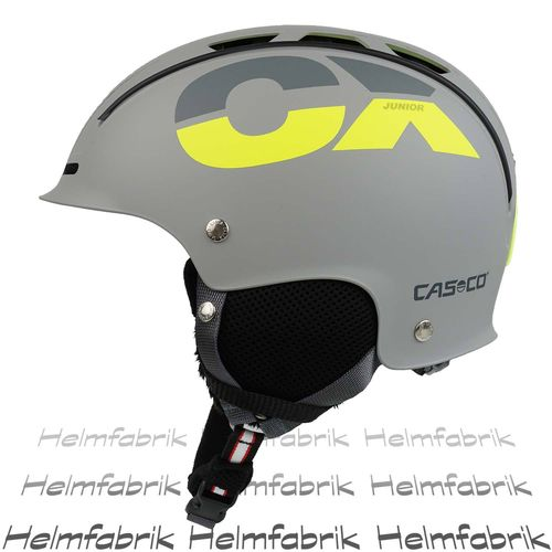 Skihelm für Kinder Casco CX-3 Junior, grau-neon, Gr. S (50-55 cm)