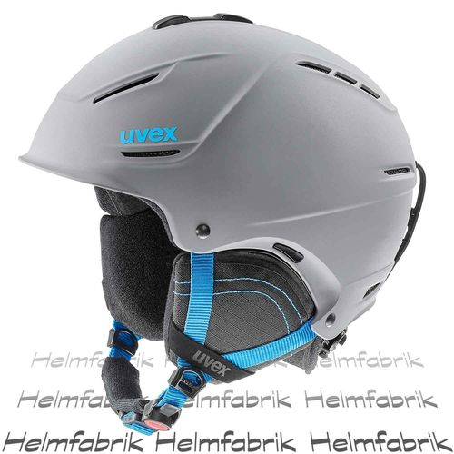 Skihelm Uvex p1us 2.0, grey-blue mat, Gr. 55-59 cm