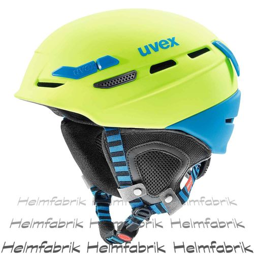 Multifunktionshelm Uvex p.8000 tour, lime-blue mat, Gr. 55-59 cm