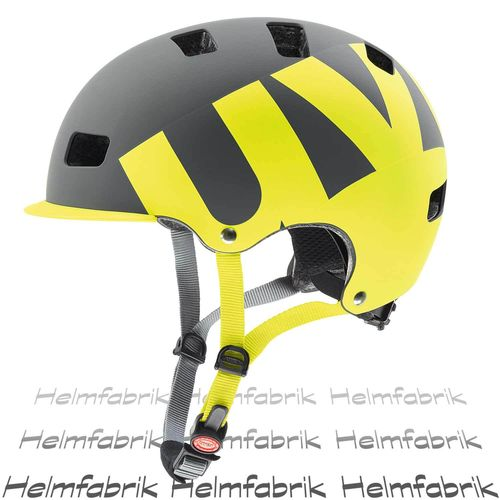 Uvex Dirt-Helm hlmt 5 bike pro, grey-lime mat, Gr. 55-58 cm