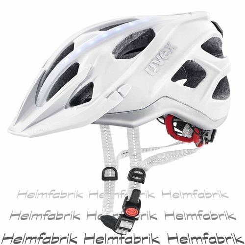 Fahrradhelm Uvex city light, white mat, Gr. 52-57 cm