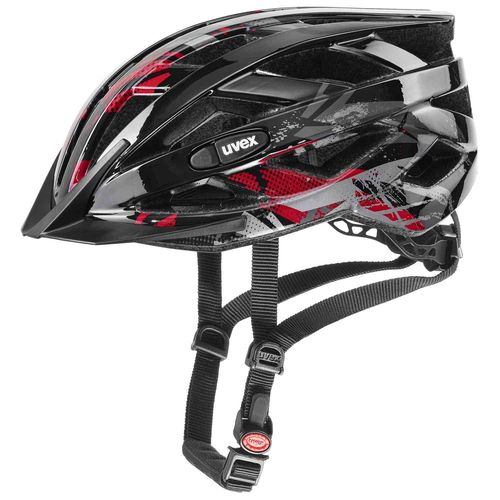 Radhelm für Kinder Uvex air wing, black red, Gr. Uni (52-57 cm)
